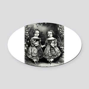 The little sisters - 1865 Oval Car Magnet