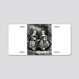 The little sisters - 1865 Aluminum License Plate