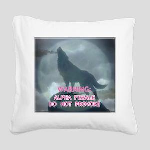 alpha werewolf Square Canvas Pillow