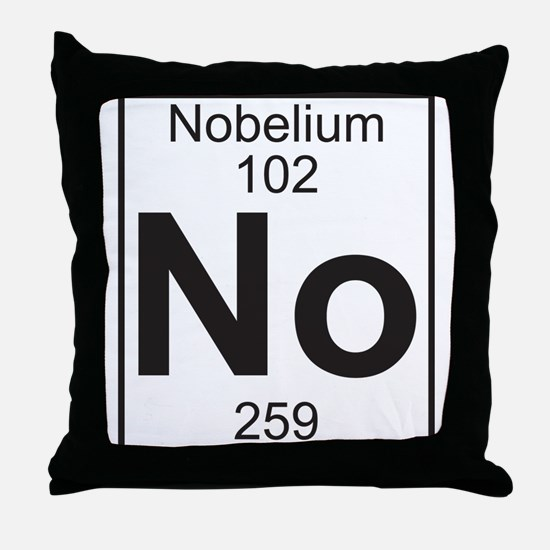 Element 102 - No (nobelium) - Full Throw Pillow