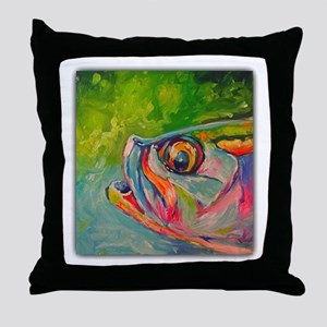 Mid Afternoon Tarpon Throw Pillow