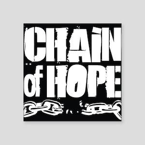 "Chain of Hope Logo B&W Square Sticker 3"" x 3"""