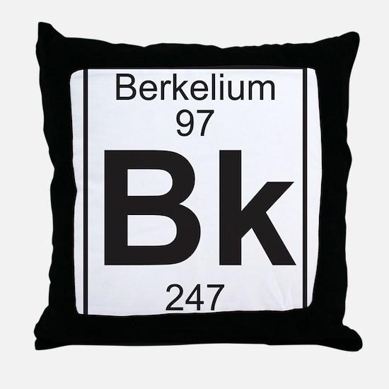 Element 97 - Bk (berkelium) - Full Throw Pillow
