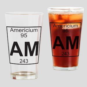 Element 095 - Am (americium) - Full Drinking Glass