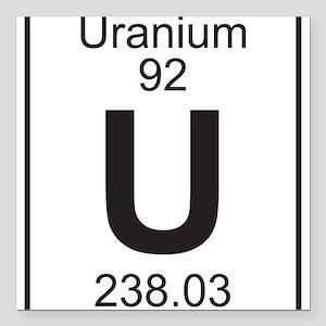 Periodic table uranium car accessories cafepress element 92 u uranium full square car magnet urtaz Choice Image