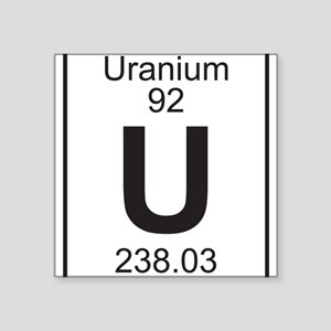 Element 92 - U (Uranium) - Full Sticker