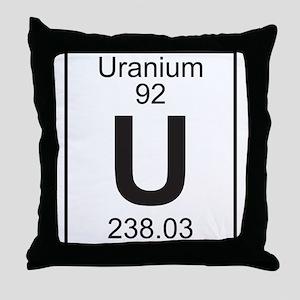 Element 92 - U (Uranium) - Full Throw Pillow