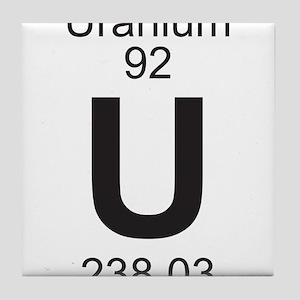 element 92 u uranium full tile coaster - Periodic Table Of Elements Uranium