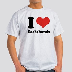 I Heart Dachshunds Light T-Shirt