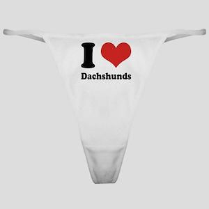 I Heart Dachshunds Classic Thong