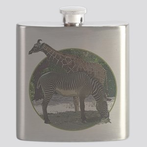 Giraffe and zebra Flask