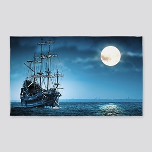 Pirate Ship 3'x5' Area Rug