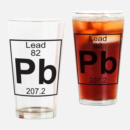 Element 82 - Pb (lead) - Full Drinking Glass