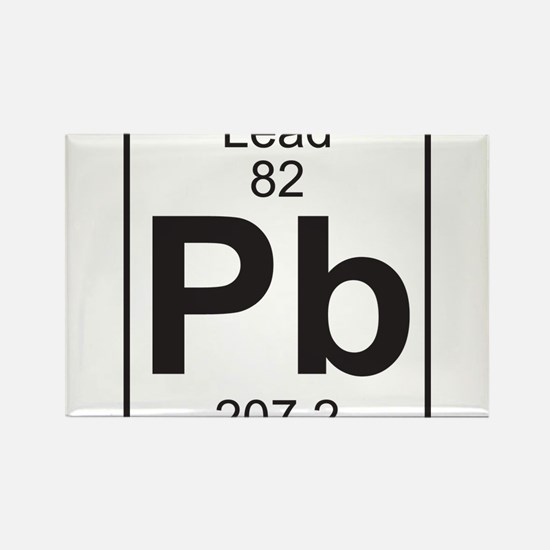 Element 82 - Pb (lead) - Full Rectangle Magnet