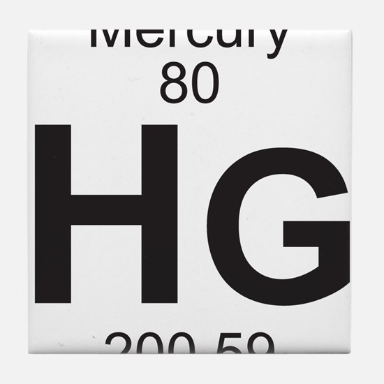 Periodic table mercury coasters cork puzzle tile coasters element 80 hg mercury full tile coaster urtaz Gallery
