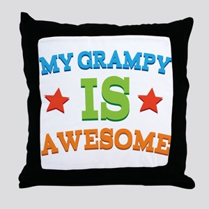 My Grampy Is Awesome Throw Pillow