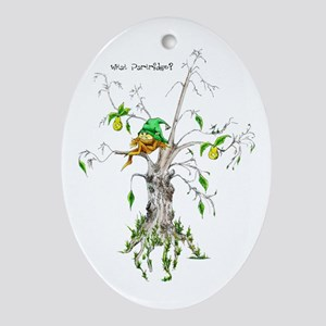 What Partridge?-Elf in a Pear Tree Oval Ornament