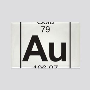 Periodic table gold magnets cafepress element 79 au gold full rectangle magnet urtaz Gallery