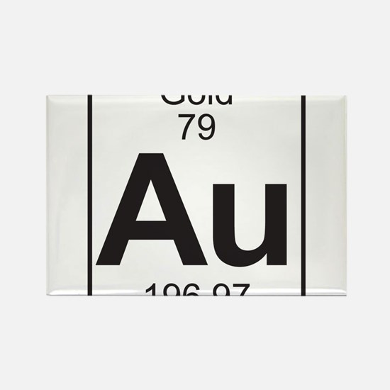 Periodic table gold magnet cafepress element 79 au gold full rectangle magnet urtaz Gallery