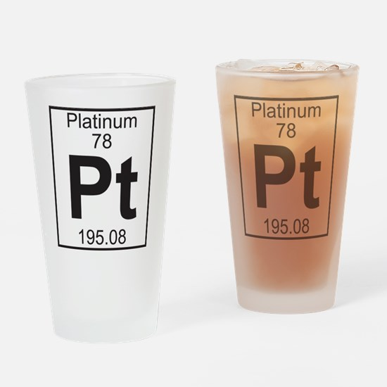 Element 78 - Pt (platinum) - Full Drinking Glass