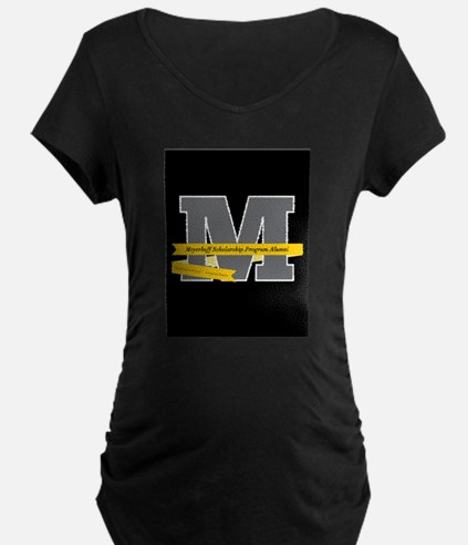 M Logo With Langston Hughes Quote Maternity T-Shir