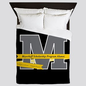 M Logo With Langston Hughes Quote Queen Duvet