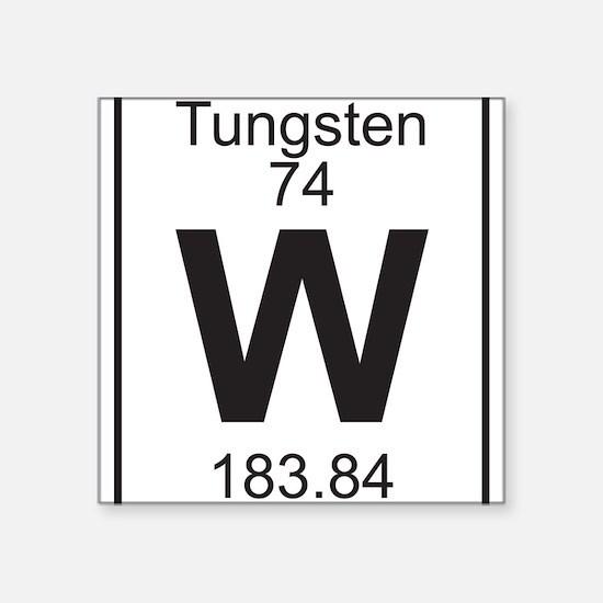 Periodic table tungsten stickers cafepress element 74 w tungsten full sticker urtaz Choice Image