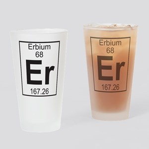 Element 68 - Er (erbium) - Full Drinking Glass