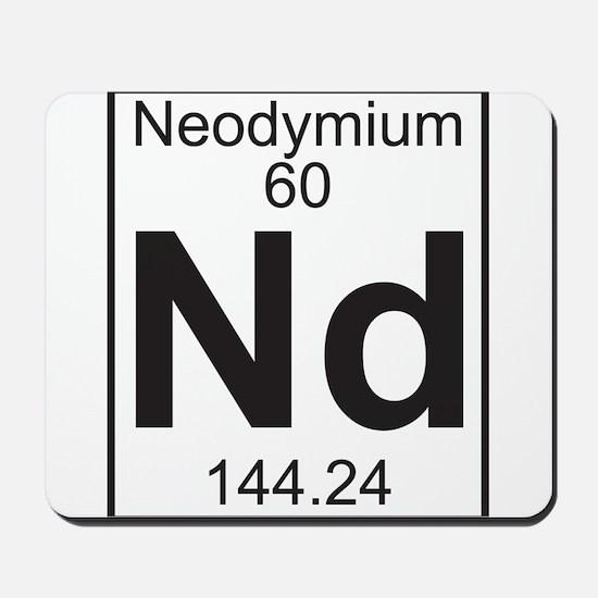 Element 060 - Nd (neodymium) - Full Mousepad