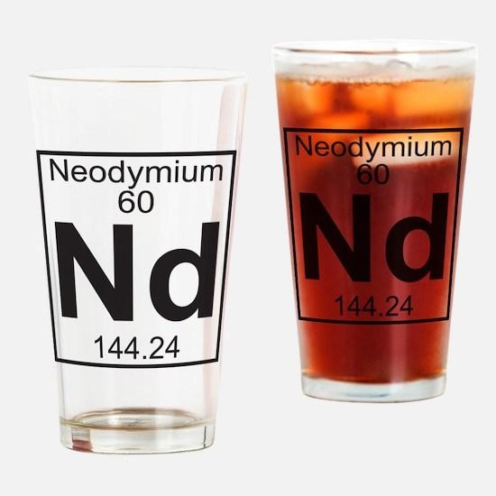 Element 060 - Nd (neodymium) - Full Drinking Glass
