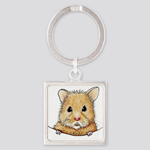 Pocket Hamster Square Keychain