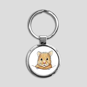 Pocket Hamster Round Keychain