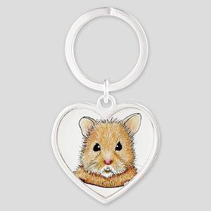 Pocket Hamster Heart Keychain