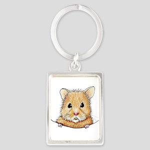 Pocket Hamster Portrait Keychain