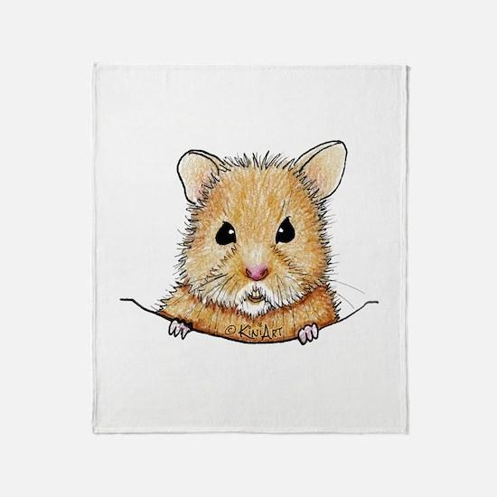 Pocket Hamster Throw Blanket