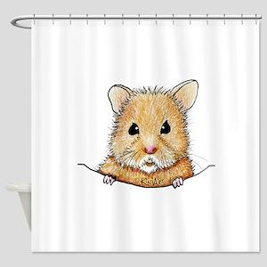 Pocket Hamster Shower Curtain