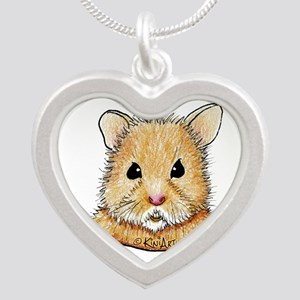 Pocket Hamster Silver Heart Necklace