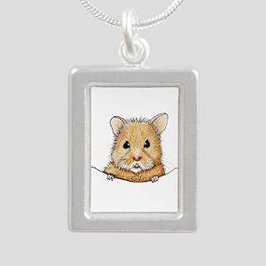 Pocket Hamster Silver Portrait Necklace
