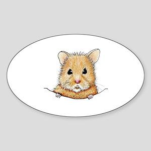 Pocket Hamster Sticker (Oval)