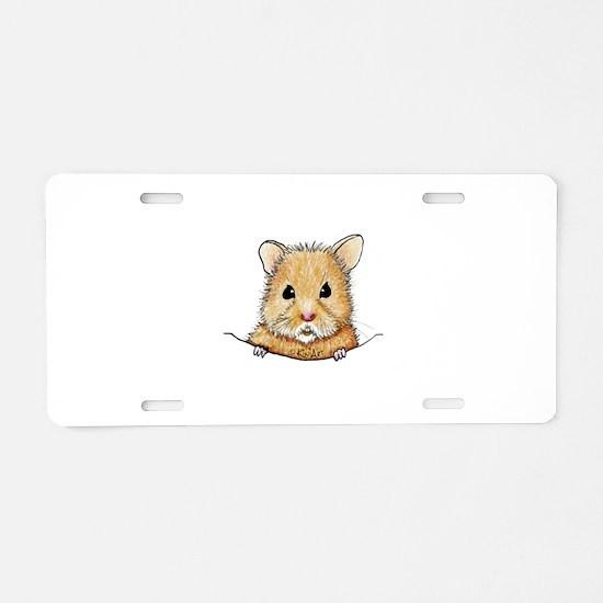 Pocket Hamster Aluminum License Plate