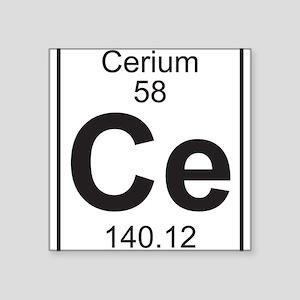Periodic table cerium stickers cafepress element 058 ce cerium full sticker urtaz Images