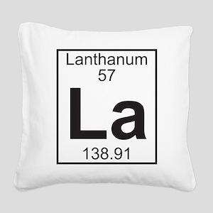 Element 057 - La (lanthanum) - Full Square Canvas
