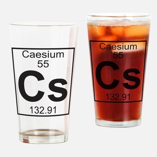 Element 055 - Cs (caesium) - Full Drinking Glass