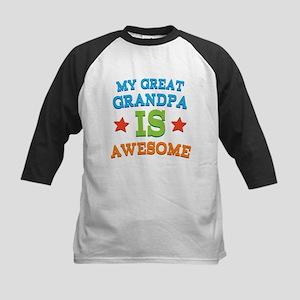 My Great Grandpa Is Awesome Kids Baseball Jersey