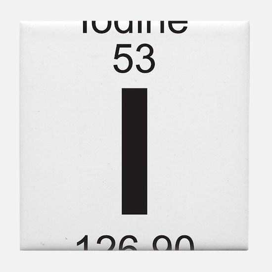 Periodic table iodine coasters cork puzzle tile coasters element 053 i iodine full tile coaster urtaz Image collections