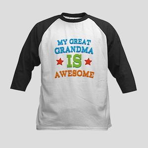 My Great Grandma Is Awesome Kids Baseball Jersey