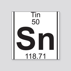 Periodic table tin stickers cafepress element 050 sn tin full sticker urtaz Image collections