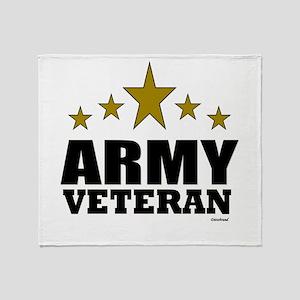 Army Veteran Throw Blanket