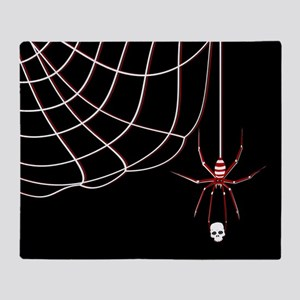 Spider Skull (kd) Throw Blanket