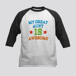 My Great Aunt Is Awesome Kids Baseball Jersey